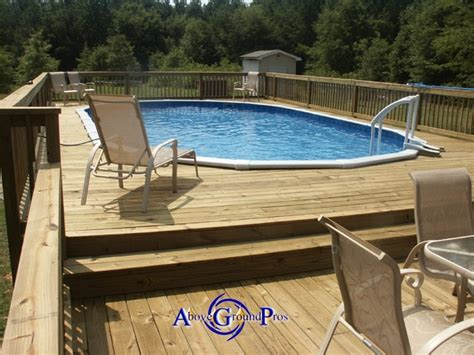 Pool Deck Plans by Two Levels Above Ground Pool Decks Decks
