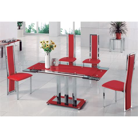 where can i buy a kitchen table rihanna extending glass dining table with 4 dining chairs