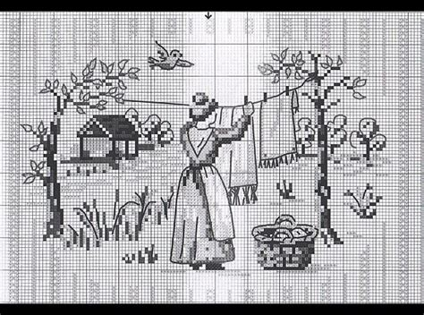 cross stitch pattern clothes line 17 best images about cross stitch laundry on pinterest