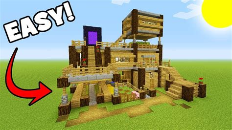 how to make a big boat in minecraft minecraft tutorial how to make a big survival base with