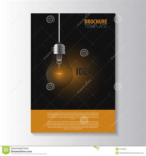 Flyer Template Cover Magazine Brochure Template Bulb Stock Vector Image 51180705 Magazine Brochure Template