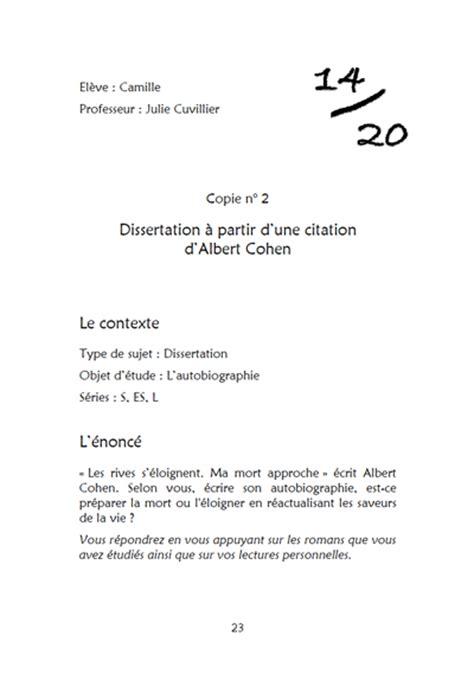 Exemple De Lettre Bac Francais Exemple De Dissertation Redigee