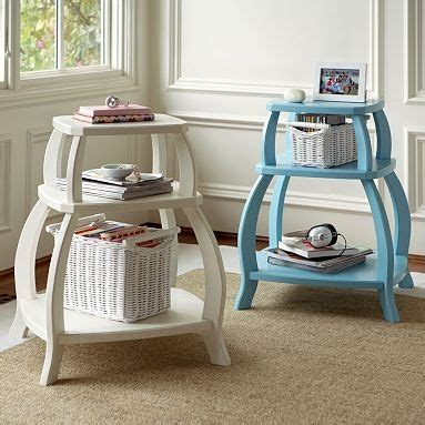 pop up storage bedside table us 199 from pottery barn but paint any bookshelves your