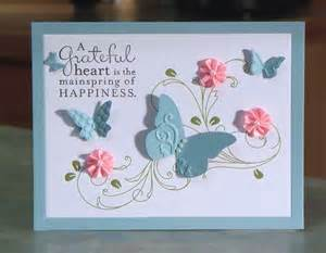handmade thank you card stin up pursuit of happiness