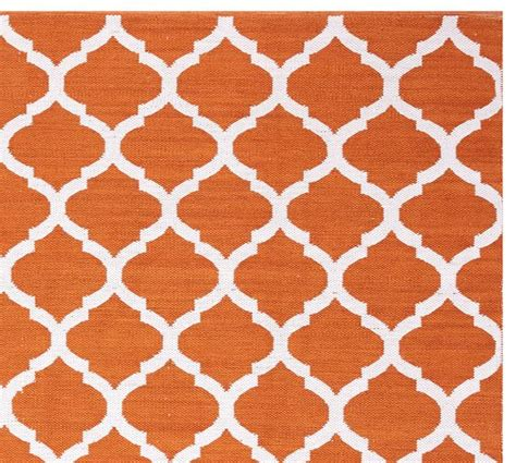 Pottery Barn Indoor Outdoor Rug Becca Tile Reversible Indoor Outdoor Rug Orange Pottery Barn