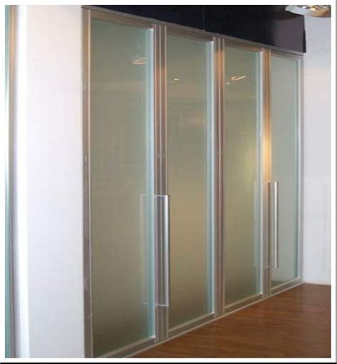Wardrobe Door Suppliers by China Aluminum Frame Frosted Glass Bi Fold Wardrobe Doors