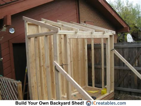 How To Build A Lean To Storage Shed by Lean To Shed Roof Plans