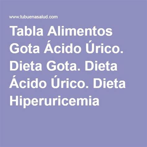 alimentos para acido urico tabla alimentos gota 193 cido 218 dieta gota dieta 193 cido