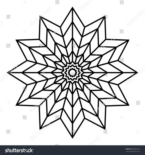 flowers for beginners an coloring book with easy and relaxing coloring pages gift for beginners books easy floral black white mandala coloring stock vector
