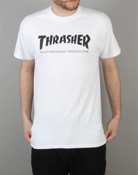 Kaos Thrasher Tshirt Thrasher Tees Thrasher Thrasher 23 thrasher skate mag t shirt white graphic t shirts skate t shirts clothing route one