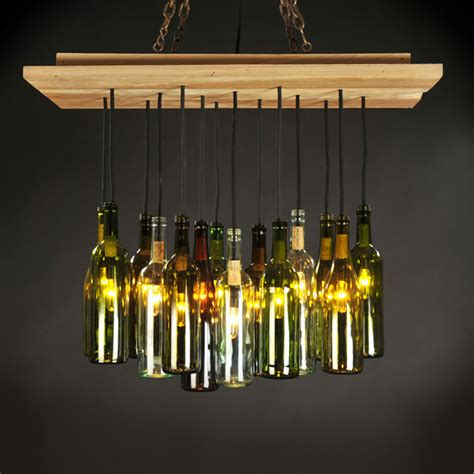 Wine Bottle Chandelier Wine Bottle Chandelier Dirk Nyk Design Touch Of Modern