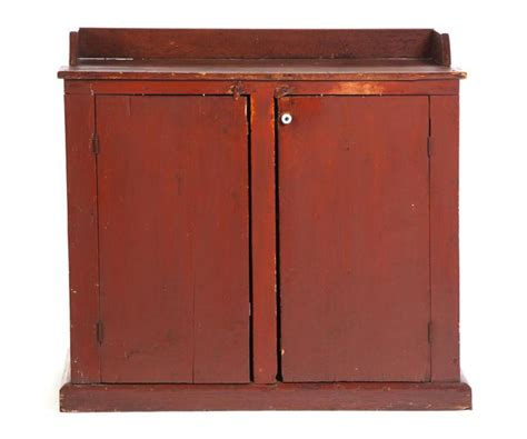 primitive painted country kitchen cabinet