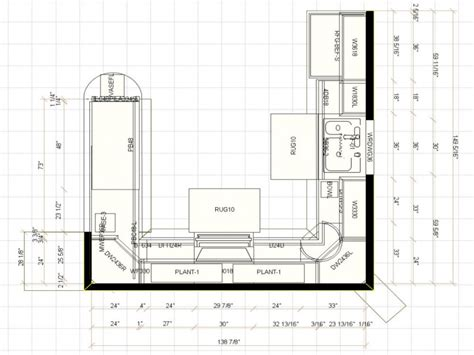 U Shaped Kitchen Floor Plan | u shaped kitchen floor plans