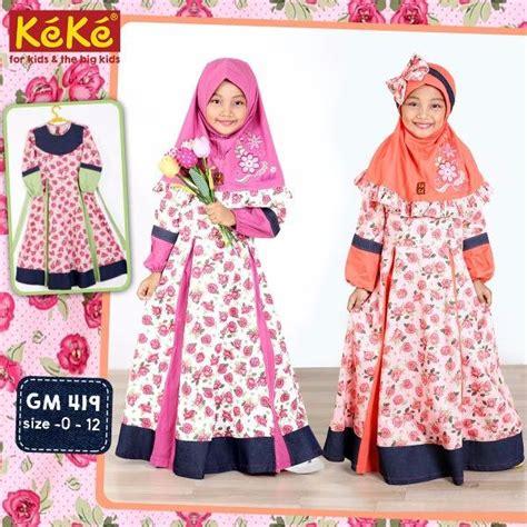 Set Bloomy Baju Anak jual gamis anak keke size 4 busana muslim busana muslim anak busana muslim anak perempuan