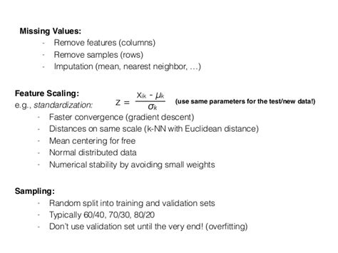 pattern classification meaning missing values remove features