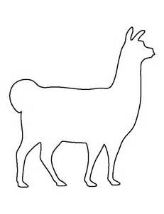 llama pattern use the printable outline for crafts