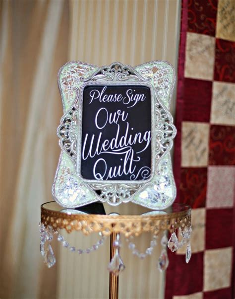 Wedding Quilt Sign by Sign Our Wedding Quilt Sign Inspired