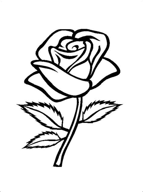 printable rose templates flower page printable coloring sheets rose coloring and