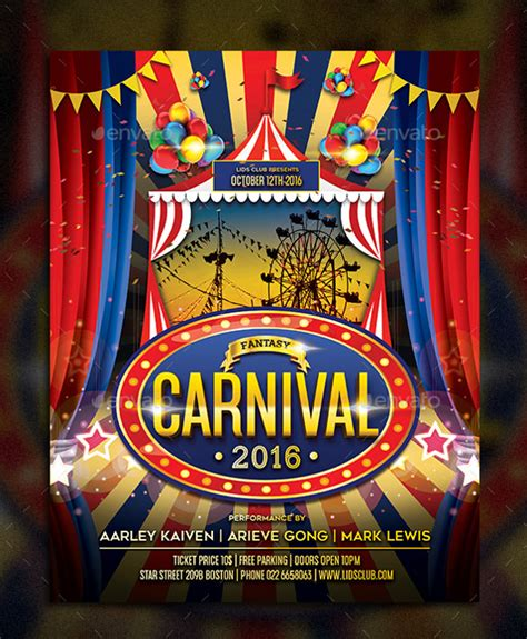 templates for carnival flyers carnival flyer template 49 free psd ai vector eps