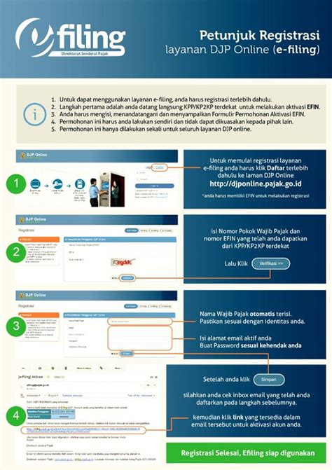 tutorial djp online djp online efin cara daftar dan lapor spt efiling 2017