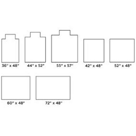 standard size chair mat anji mountain standard bamboo roll up chairmat size chart