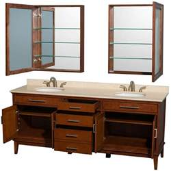 Hatton 80 quot traditional double sink bathroom vanity light chestnut