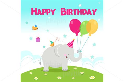 Elephant Birthday Card Template by Stock Graphic Birthday Elephant 187 Logotire