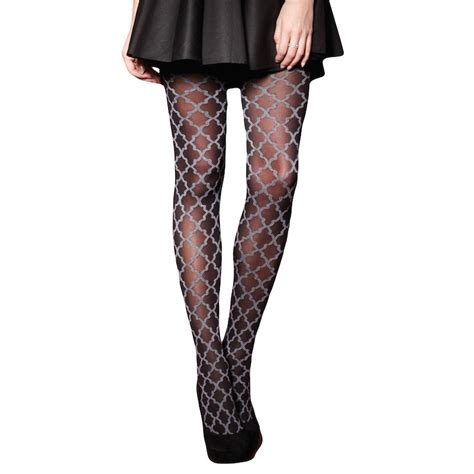 black and grey patterned leggings charnos baroque patterned tights bold and exuberant