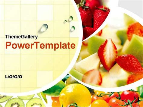 powerpoint themes fruit and vegetables fresh fruits and vegetables ppt template ppt