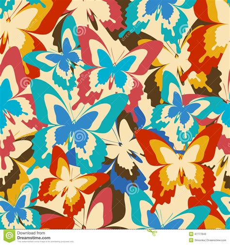 colorful vintage wallpaper vintage background seamless pattern with colorful