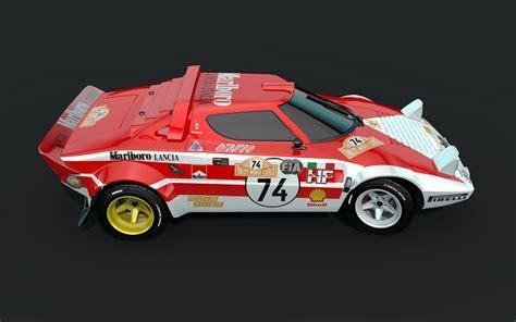 Lancia Stratos Model Lancia Stratos Marlboro 3d Model Obj C4d Cgtrader