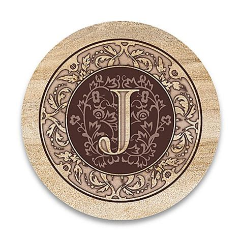 bed bath and beyond coasters monogram letter quot j quot coasters set of 4 bed bath beyond