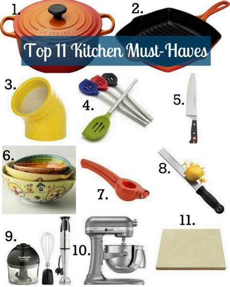 kitchen must haves list top 11 kitchen must haves
