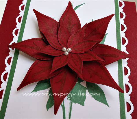 Poinsettia Paper Craft - how to make a paper poinsettia