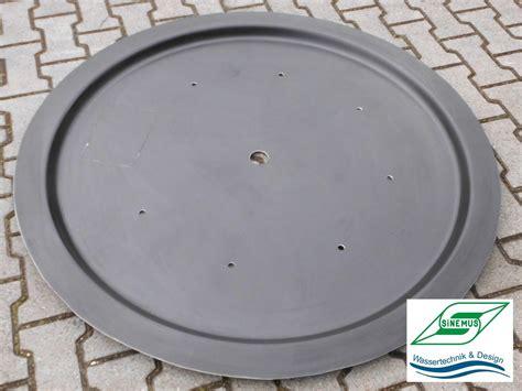 deckel für feuerschale 100 cm gfk abdeckung d 100cm sinemus gmbh wassertechnik design