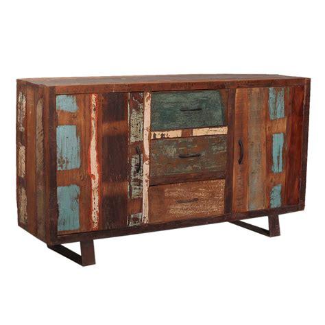 reclaimed wood buffet sideboard 2 door 3 drawer cabinet w