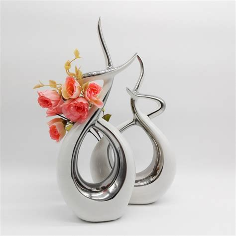 Sculpture Home Decor Abstract Sculpture Crafts Modern Home Decor White Ceramic Originality Ornament Porcelain Fashion