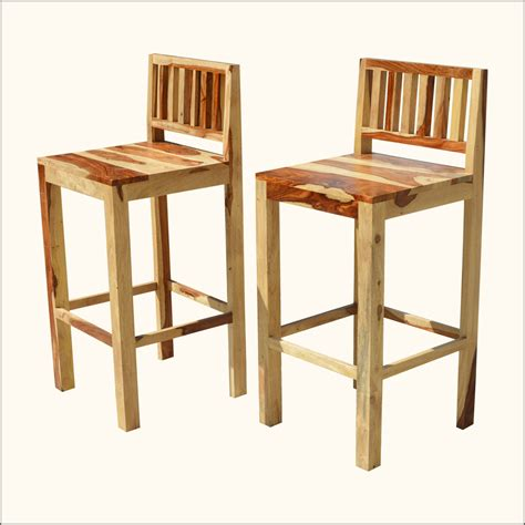 Wooden Bar Stool With Back Furniture Wooden Bar Stool With Tiny Back And Seat How To The Low Back Bar