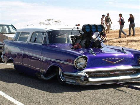 nomad drag car blown 57 chevy nomad rods cars fancy