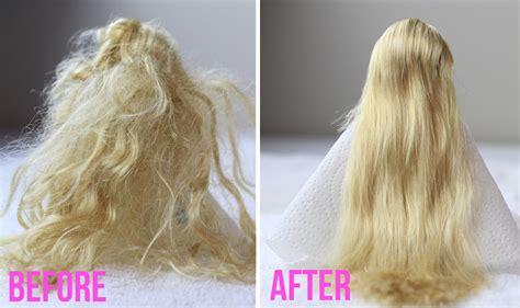 doll hair how to detangle doll hair tutorial