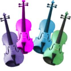 colored violins academy violin in various colours