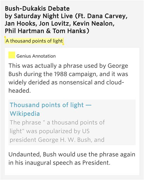 A Thousand Points Of Light by A Thousand Points Of Light Bush Dukakis Debate