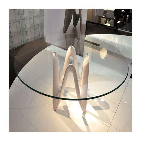 Designer Table by Table Ronde Design En Verre Lambda Sovet 174 4 Pieds