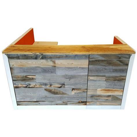 wood reception desk green clean designs