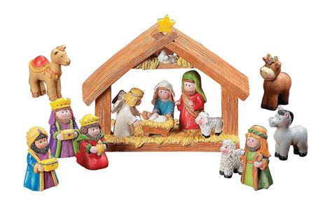 lowest price fun express mini christmas nativity set 9