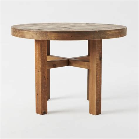 Emmerson 174 reclaimed wood round dining table west elm