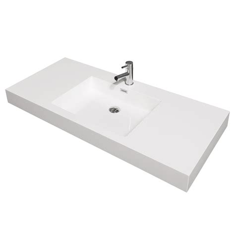 integrated bathroom sink 48 quot amare wall mounted bathroom vanity set with integrated