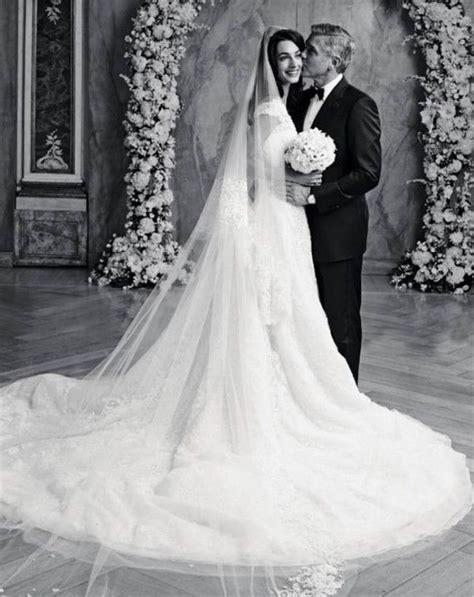 hochzeitskleid amal clooney amal alamuddin and george clooney wedding dress photos
