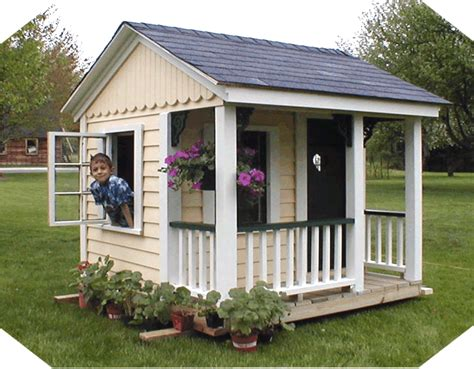 Simple Playhouse On Pinterest Playhouse Plans Wooden