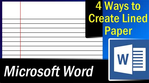 Make Lined Paper In Word How To Make Lined Paper In Word 28 Images Image